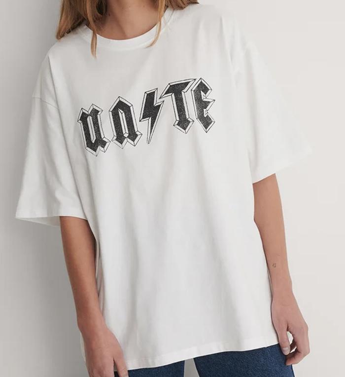 Flot t-shirt til damen med et godt klima budskab