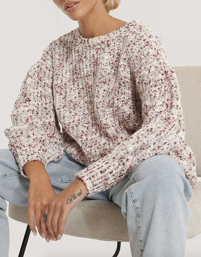 Flot ulden trøje med puf til piger