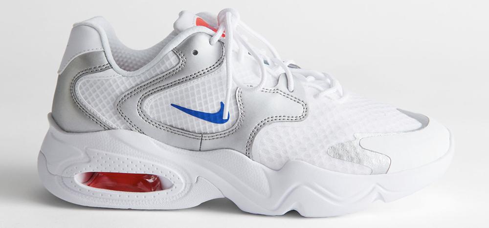 Hvide Nike air Max med farverige detaljer