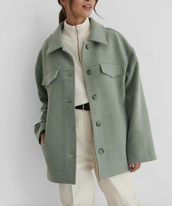 Kort forårsjakke i lækker mint grøn