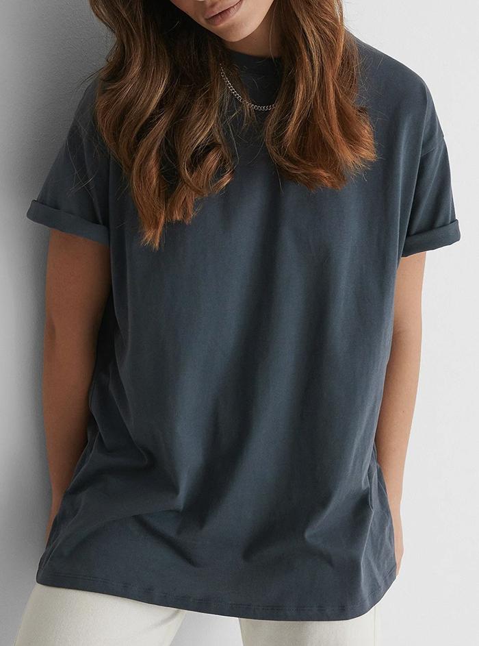 Økologisk t-shirt i vasket bomuld