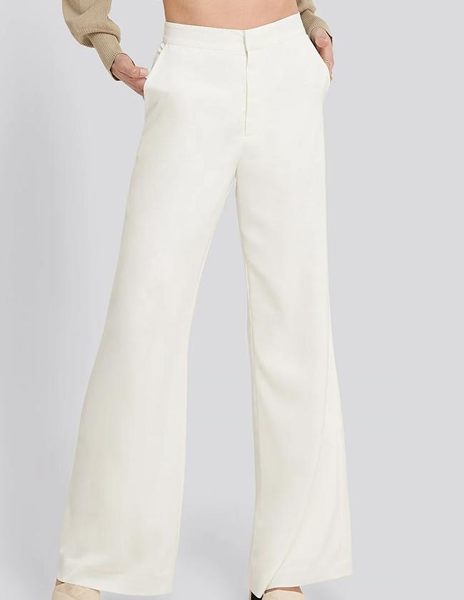 Raffinerede hvide bukser til damer