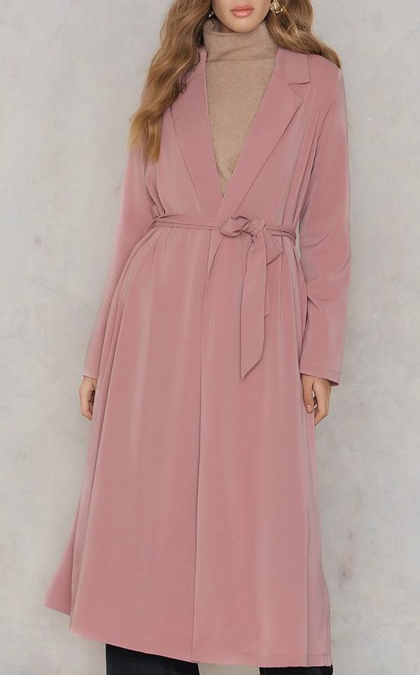 shiny lyserød forårsjakke til damer