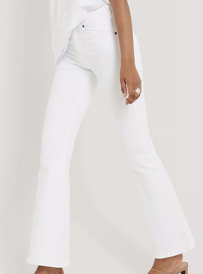 Slim fit hvide bukser som sidder perfekt