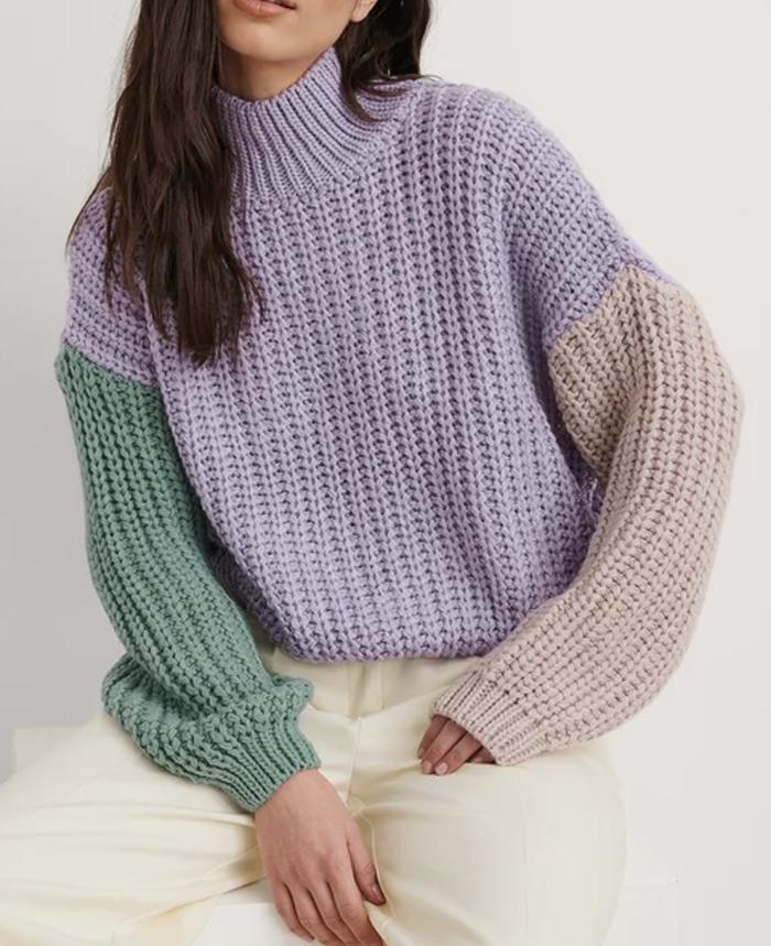 Tyk pastelfarvet trøje til piger
