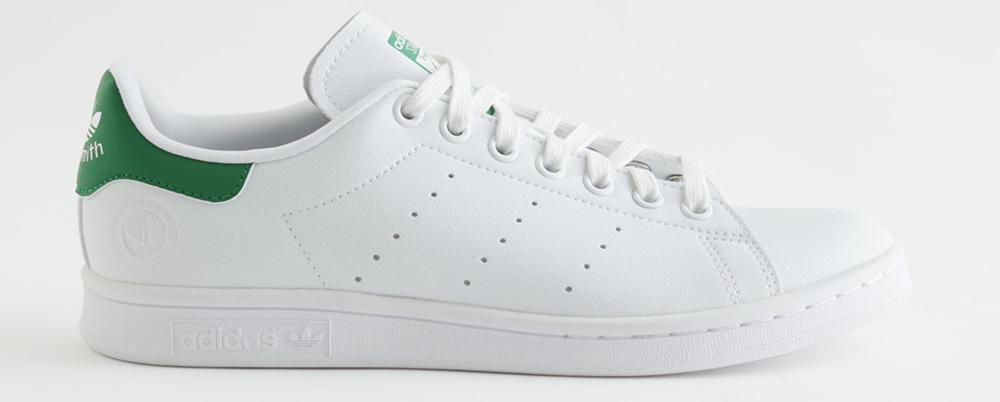 Veganske hvide sneakers fra adidas