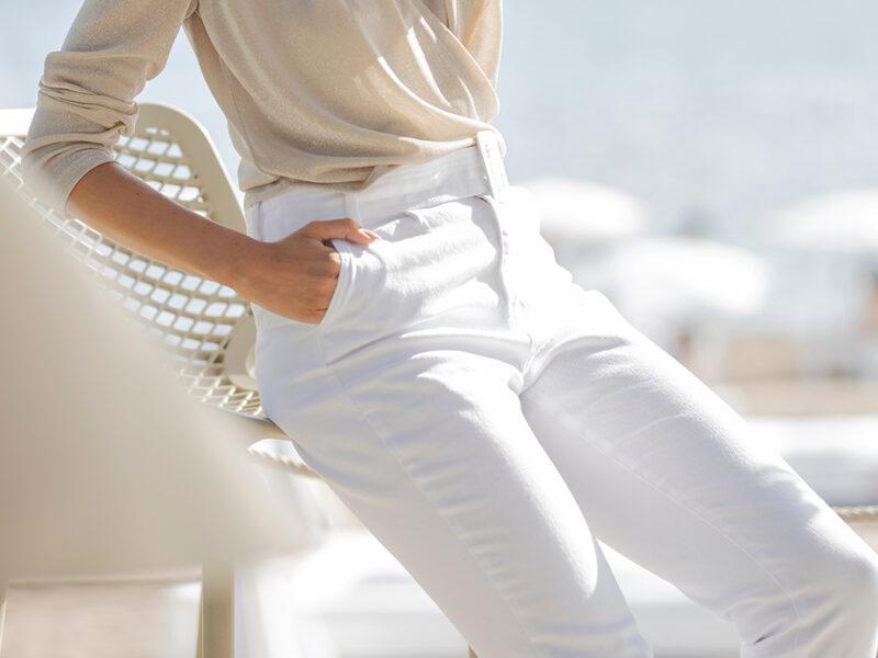 hvide bukser dame jean dame