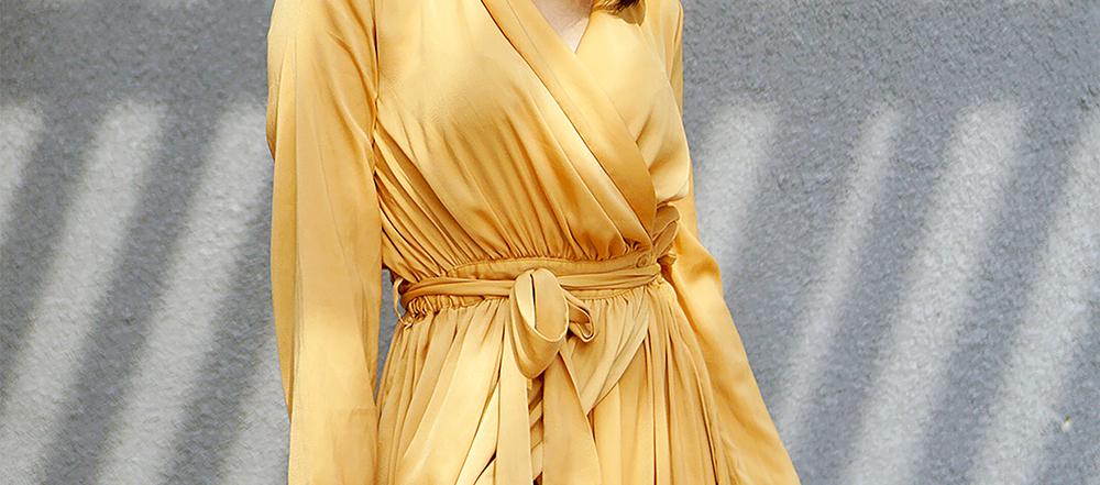 langærmede løse kjoler