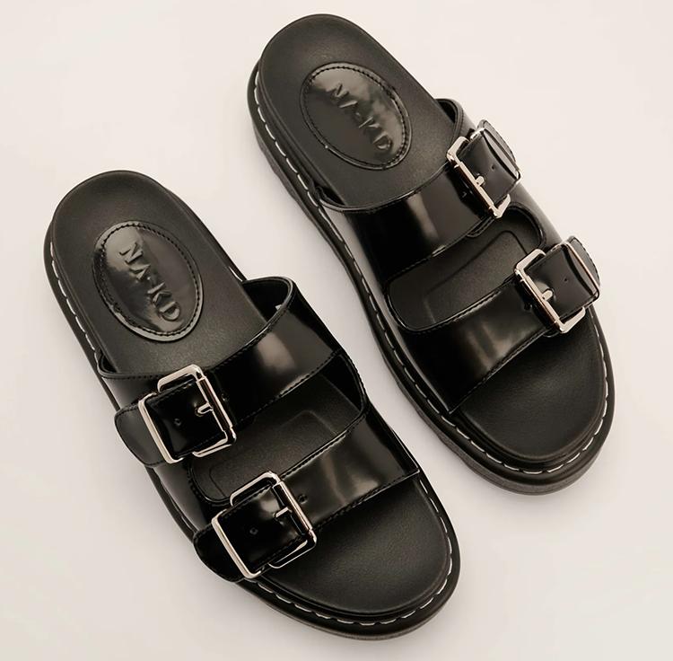 Chunky flade sandaler til damer