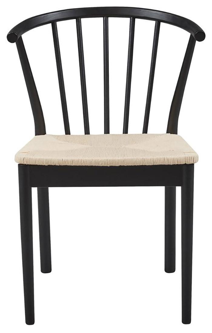 Lækker spisebordsstol med flettet sæde