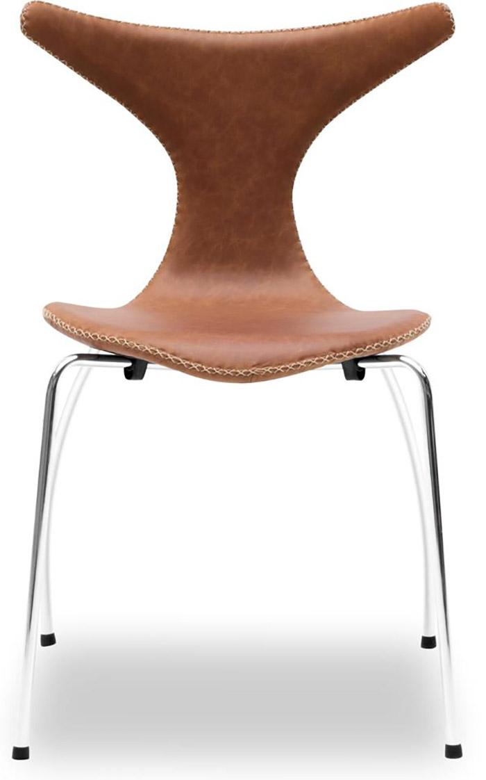 Smuk spisebordsstol i kvalitetspræget læder