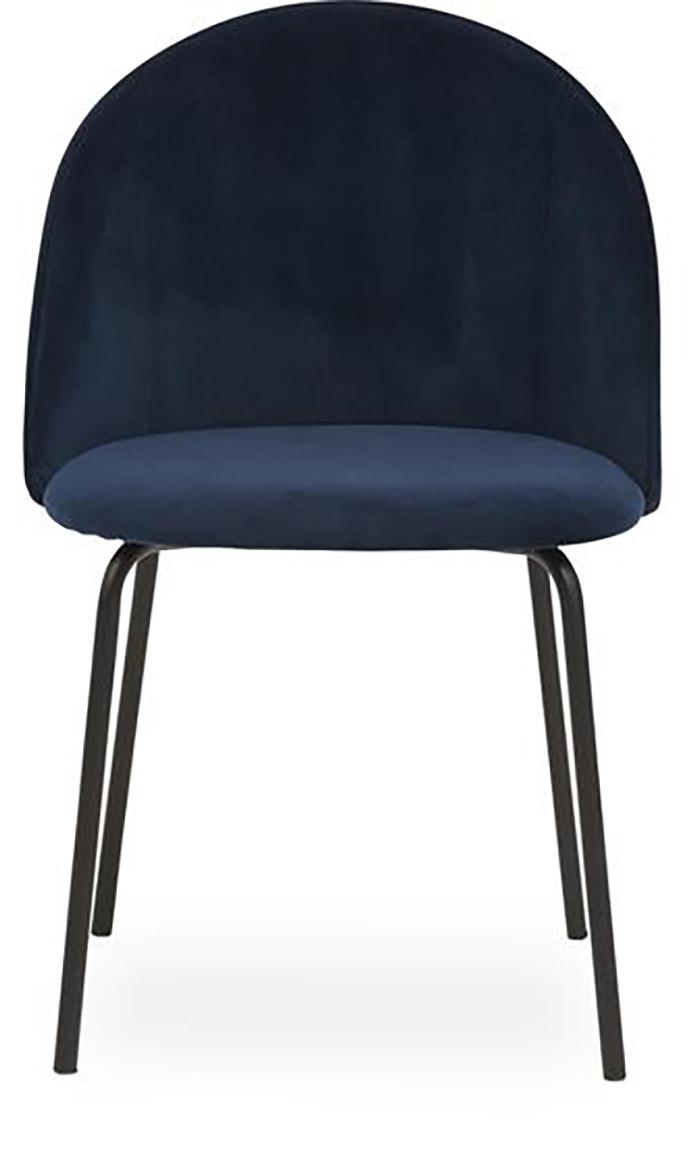 Spisebordsstole med armlæn i smuk velour