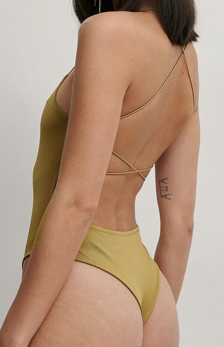 Smuk olivengrøn bodystocking til kvinder bodystockings kvinder