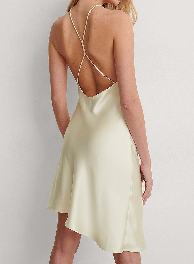 Billig feminin kjole i silke look