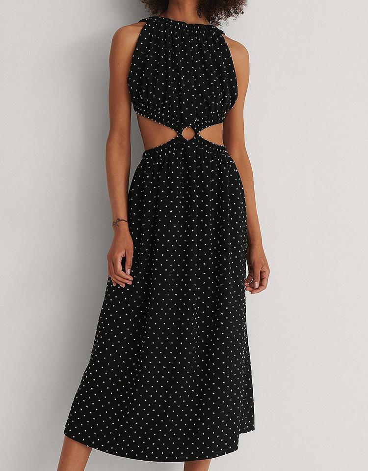 Elegant kjole med åben ryg