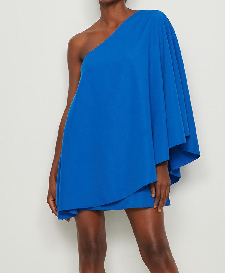 Sofistikere festkjole i kraftig blå farve