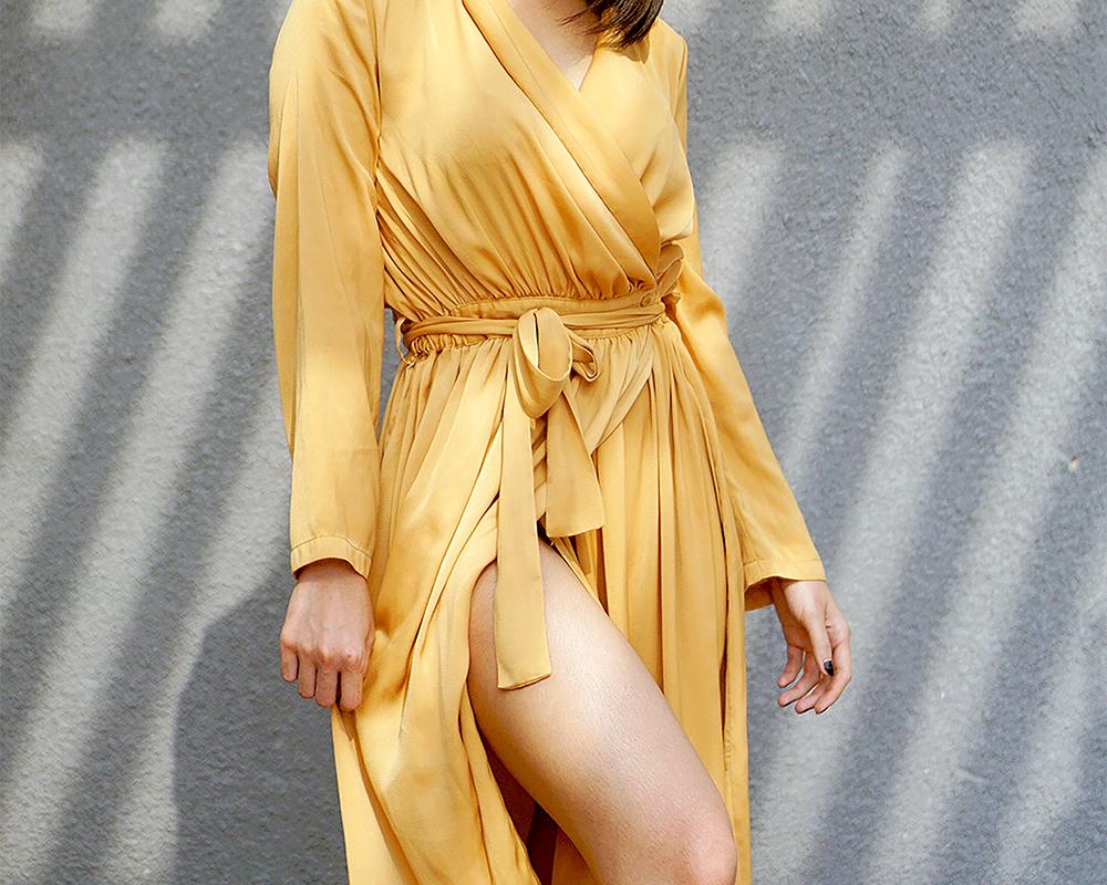 billige kjoler lange kjoler med lange ærmer