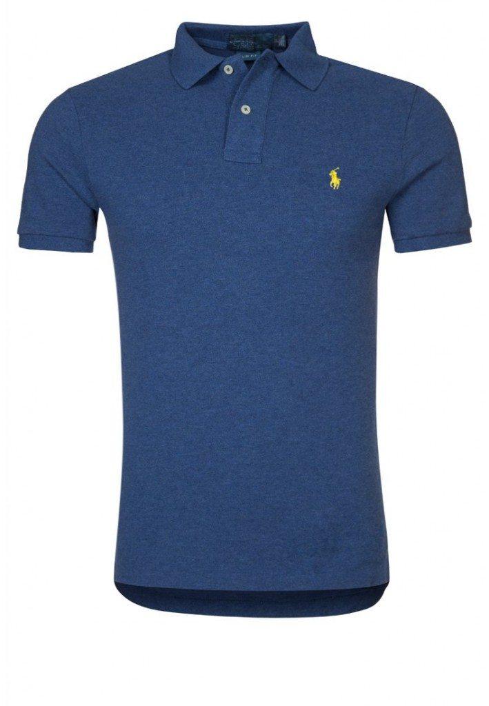 Slimfit Polo i Blå