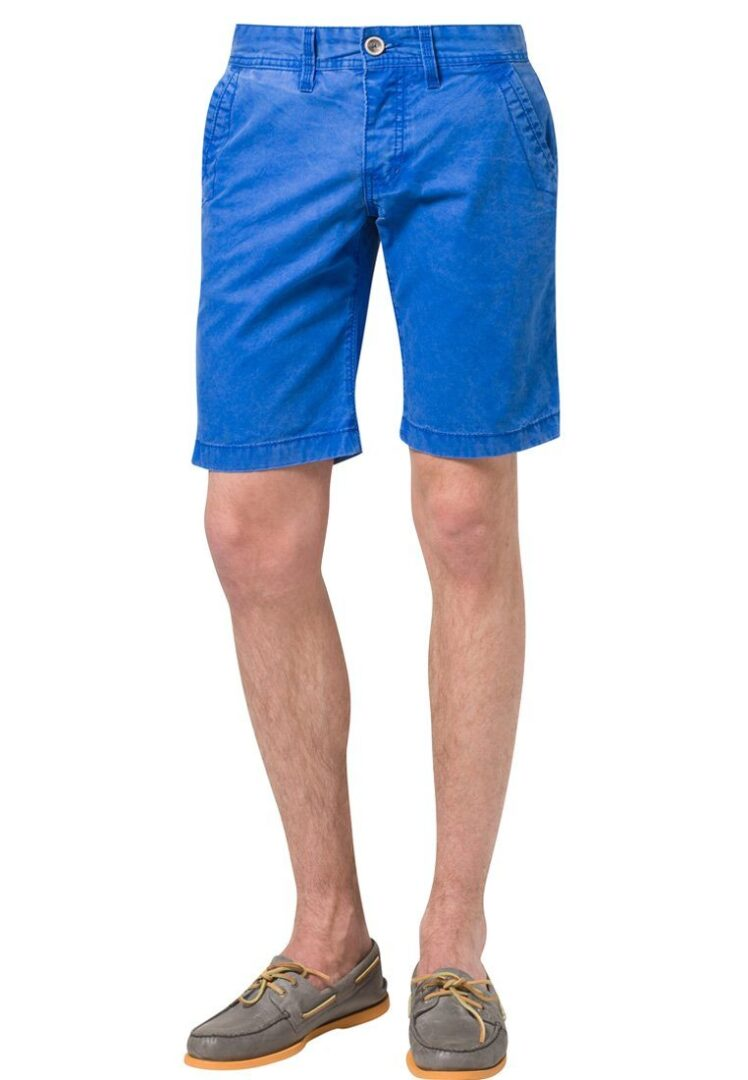 Rå shorts i blå