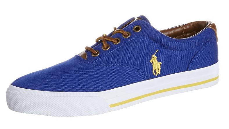 Ralph Lauren Sneakers blå gul hvid