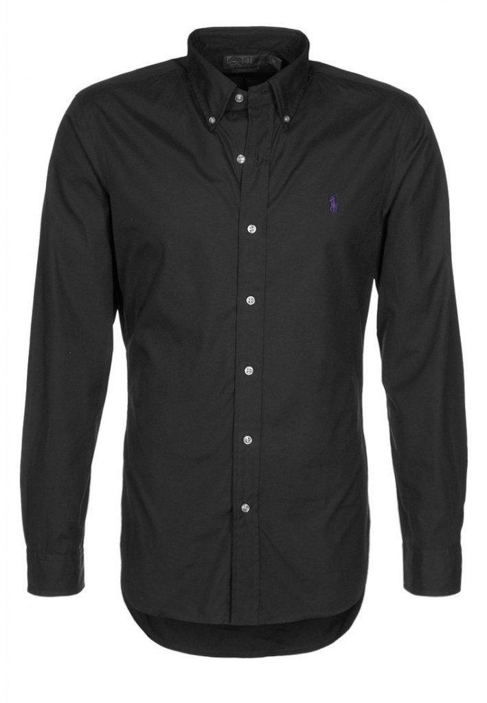 formel skjorte i sort ralph lauren