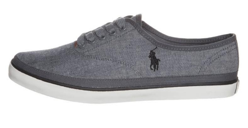 mørkegrå sneakers ralph lauren