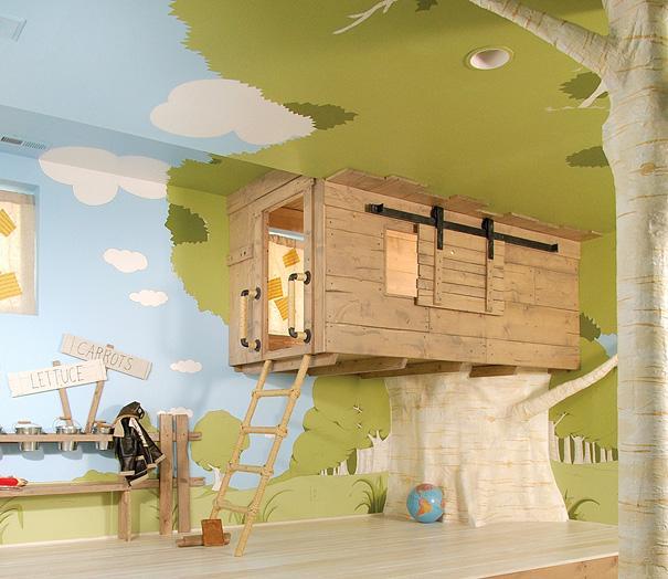 Træhytte til børneværelset