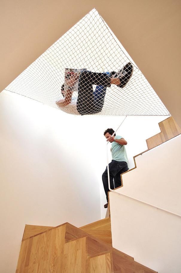 Hængekøje over trapperne