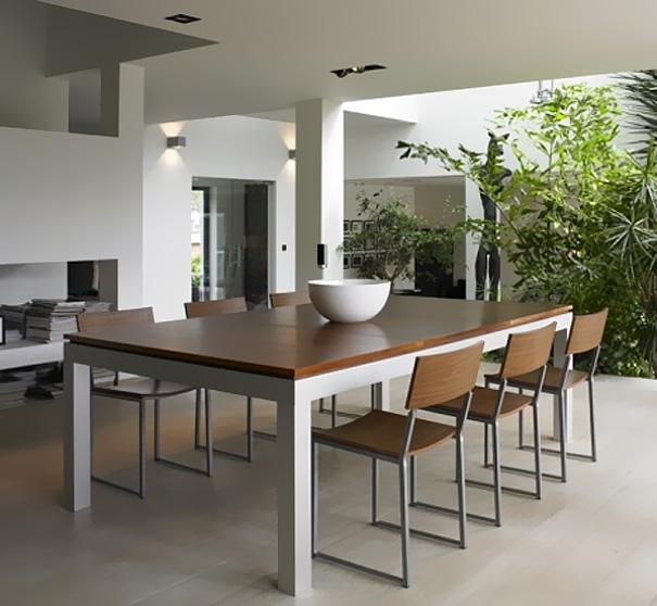 Spisebord med pool bord