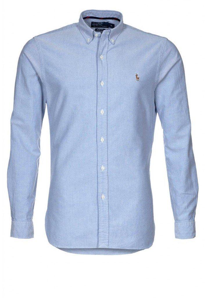 lyseblå ralph lauren skjorte