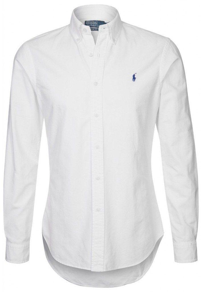 hvid skjorte ralph lauren blå hest