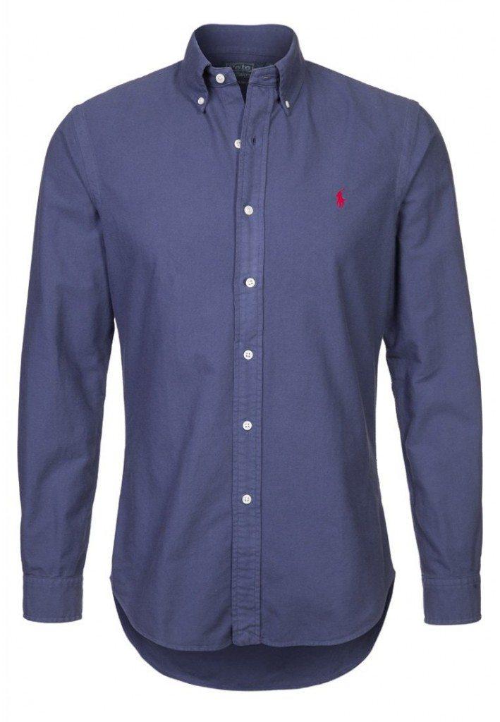 Mørkeblå ralph lauren skjorte
