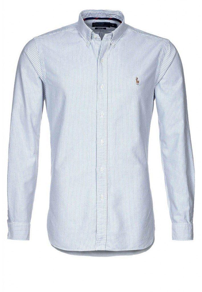 nålestribet skjorte fra ralph lauren