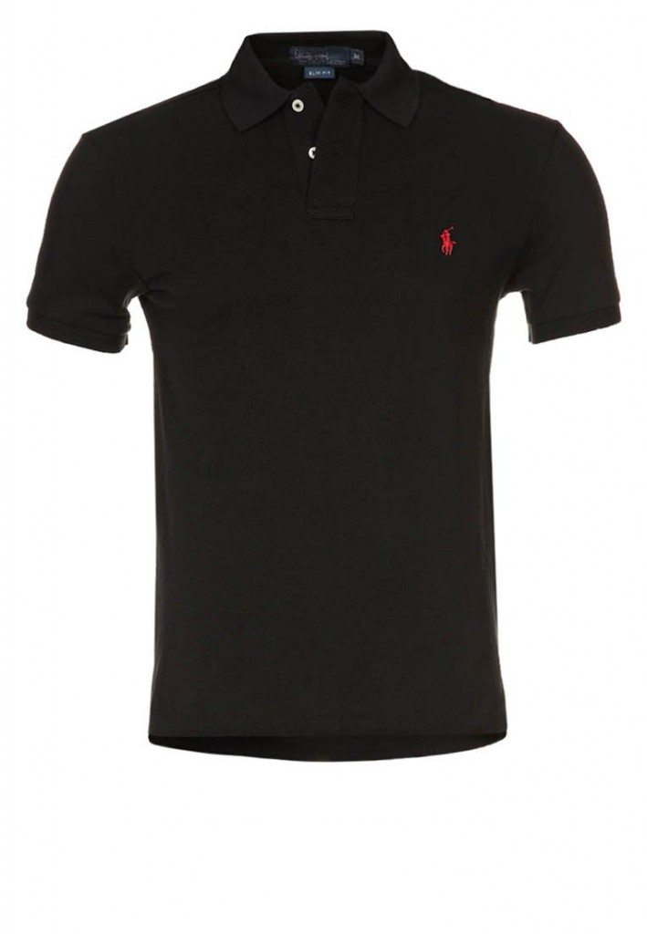 Sort Polo T-Shirt