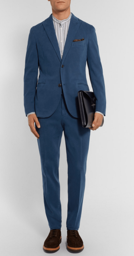 blå jakkesæt herre