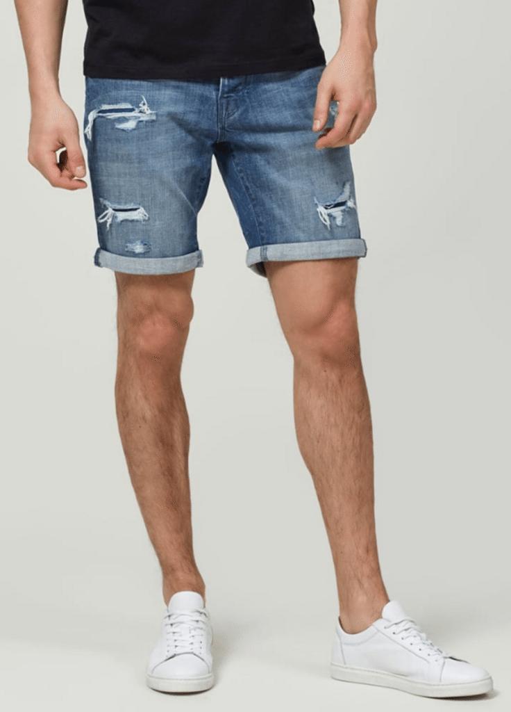 fede blå shorts mænd