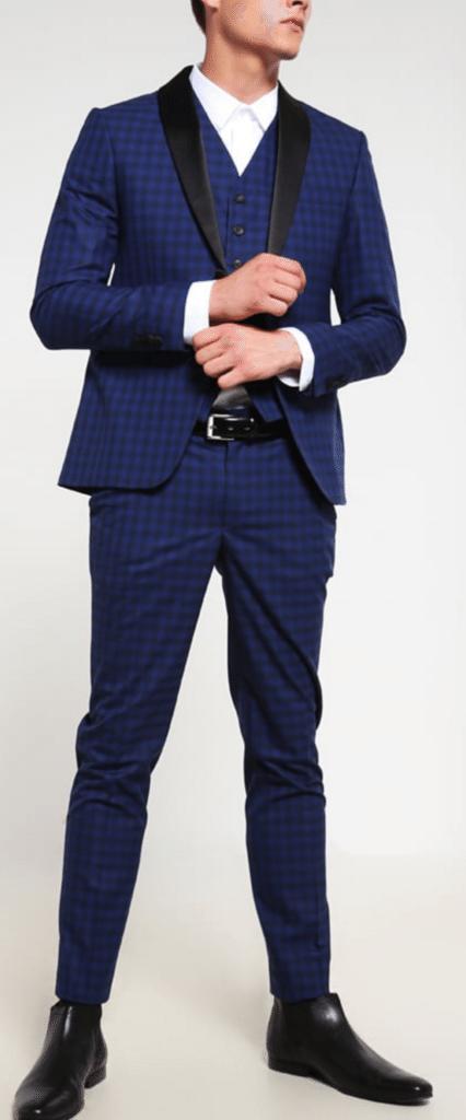 blåt jakkesæt mænd