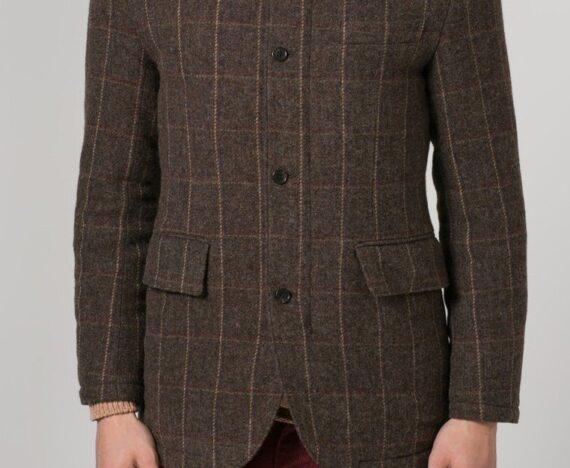 brun blazer herre