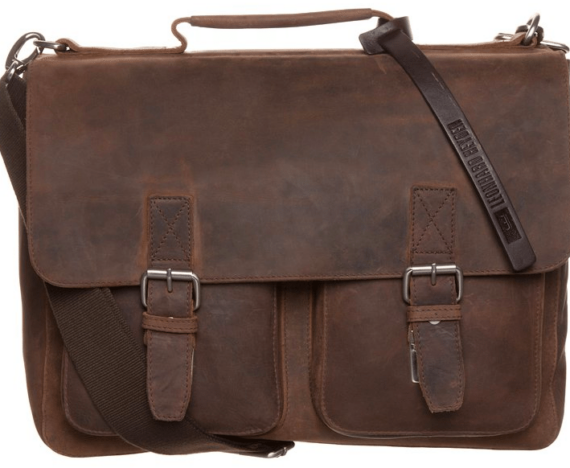 computertaske i læder