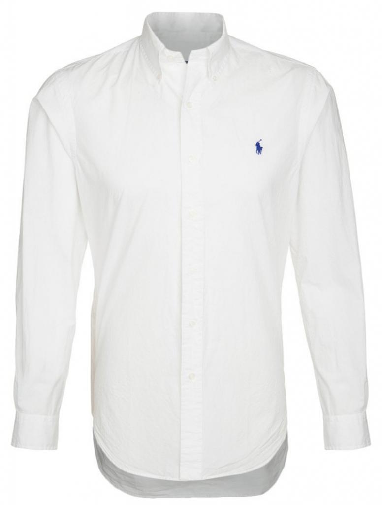 hvid skjorte til mænd ralph lauren