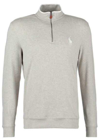 grå sweatshirt med lynlås