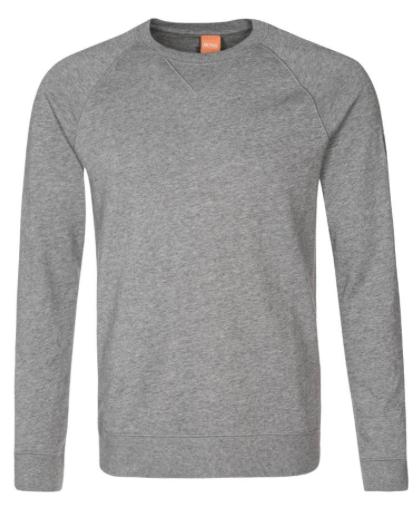 grå sweatshirt med rund hals