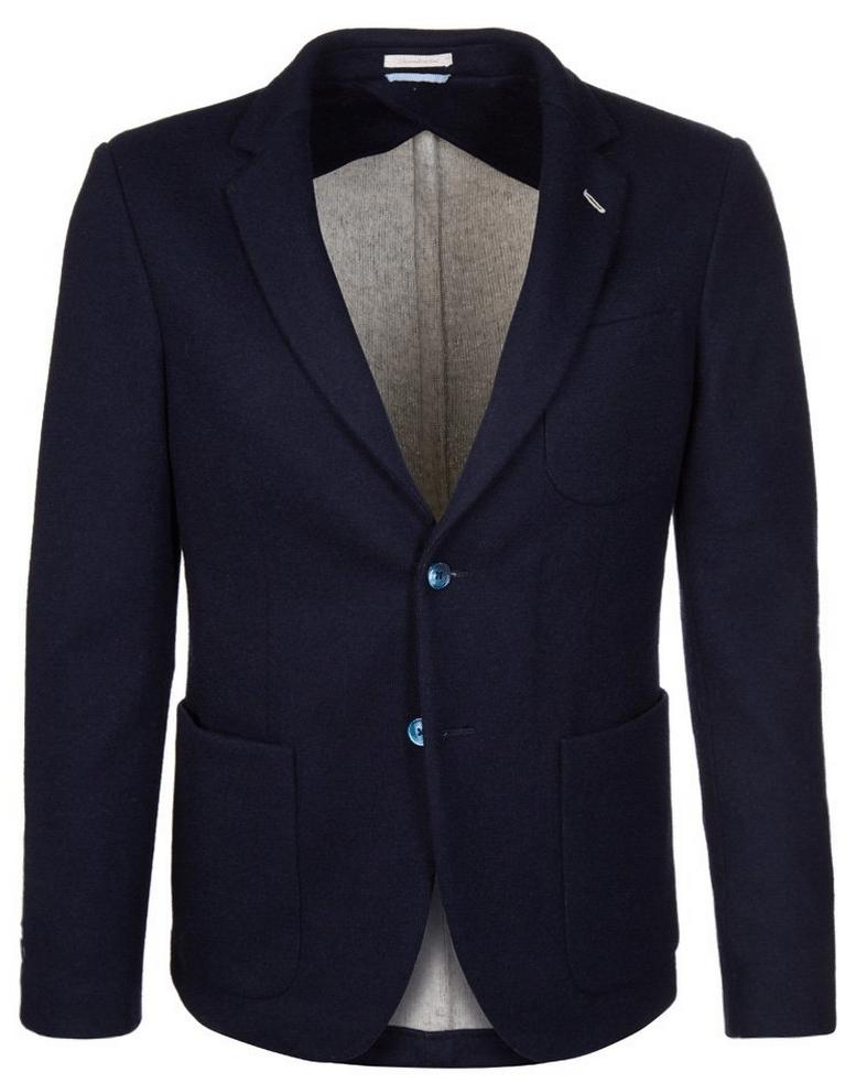blå blazer