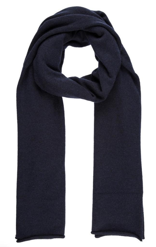 blåt tørklæde af kashmir