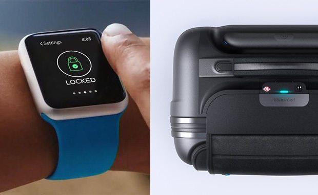 bluesmart kabinekuffert smartphone lås