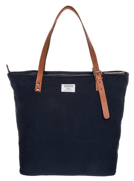 blå shoppingbag