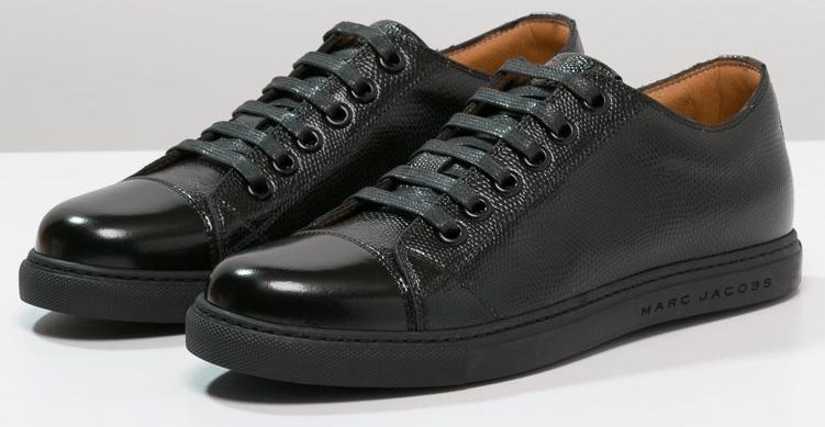 sorte sneakers i læder marc jacobs