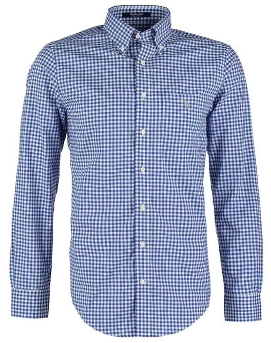 blå ternet skjorte