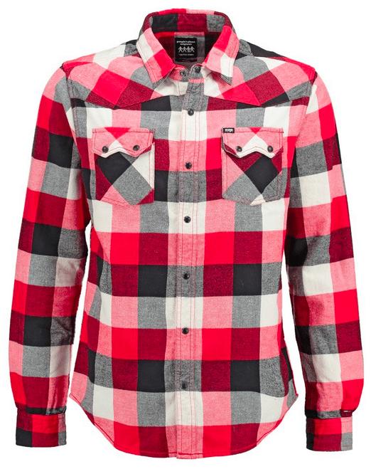 rød skjorte mand