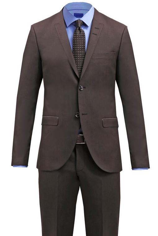 brunt jakkesæt